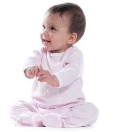 Larkwood Contrast Baby Sleepsuit