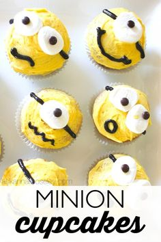 Minion Cupcakes from Ask Anna