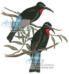 Bee Eaters Cross Stitch Pattern http://www.artecyshop.com/index.php?main_page=product_info&cPath=1_4&products_id=513
