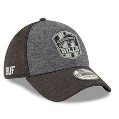 Men s Buffalo Bills New Era Heather Gray Heather Black 2018 NFL Sideline  Road Graphite 39THIRTY 1bf19a56d
