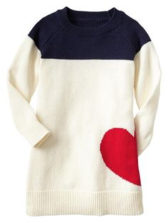 If I can't wear this, I need a child so I can purchase this dress!! Heart Sweater Dress http://rstyle.me/~1lTrf