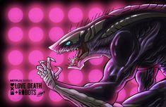 Love Death Robots-Khanivore 6 by GiuseppeDiRosso on DeviantArt Beast Creature, Anime Monsters, Alien Concept Art, Tv Show Games, Fantasy Monster, Robot Art, Creature Design, Fantasy Creatures, Werewolf
