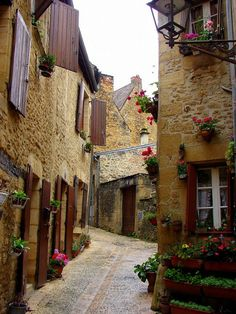 Sarlat, France Lovely meandering streets winding up and around to new adventures waiting to unfold.
