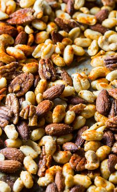 Cajun Nuts - make a great party snack or holiday appetizer. Flavored with plenty of spices, some sugar, and bacon grease!