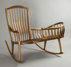 Rocking chair with cradle attached.  Good idea!