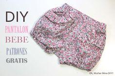 DIY Cómo hacer pantalones de bebe (patrones gratis)