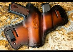 Savoy Leather custom leather holsters are handmade to order, made in the U. and heirloom quality. Design your holster with custom art and carry styles. Leather Notebook, Leather Books, Leather Journal, 1911 Holster, Pistol Holster, Ccw Holsters, Revolver, Leather Craft, Handmade Leather