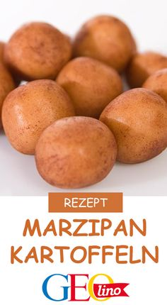 Makes your own marzipan potatoes - GEOlino has the delicious recipe! Cookie Desserts, Dessert Recipes, No Gluten Diet, Seafood Dishes, Confectionery, Winter Food, Tasty Dishes, Food Porn, Brunch