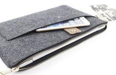 Zipper Felt Macbook sleeve Macbook Air case Macbook by FeltSJie