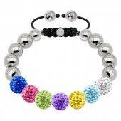 Rive Multicolore Womens Bracelet 020901 Coloured Tresor Crystal Stainless Steel Bracelet £99.00