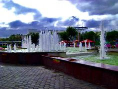 Fountain in town centre park
