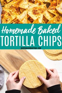 Homemade Corn Tortilla Chips by The Modern Proper. Salty, crisp, and still warm from the fryer, homemade corn tortilla chips are an unbeatable—and unbelievably easy—snack for hungry tummies big and small. Baked Corn Tortilla Chips, Baked Corn Tortillas, Homemade Tortillas, Baked Chips, Recipes With Corn Tortillas, Healthy Tortilla Chips, Corn Tortilla Recipes, Corn Chips, Easy Cupcake Recipes