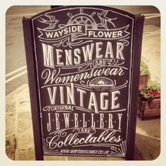 Wayside flower typography sign @Linda Bruinenberg Brister flower