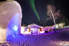 Entrance to the Lainio Snow Village.