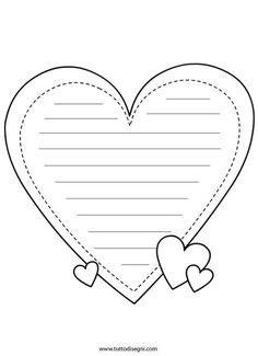 cuore-lettera-san-valentino Vintage Valentines, Valentine Day Cards, Valentines Diy, Happy Valentines Day, Valentines Day Coloring, Toddler Art Projects, Valentines Day Background, Saint Valentine, Templates Printable Free