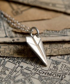 Look what I found on #zulily! Sterling Silver Paper Plane Pendant Necklace #zulilyfinds
