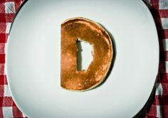 pancakes http://www.behance.net/gallery/font-with-pancakes/8451665