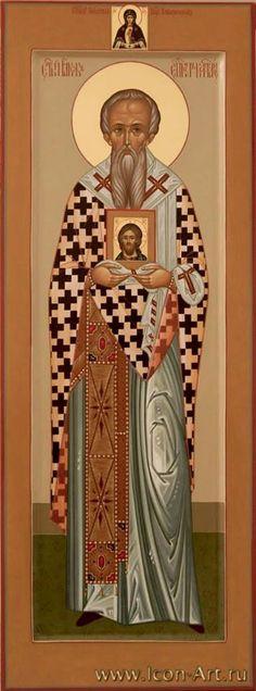 Saint Leo the Wonderworker, Bishop of Catania in Sicily 20 March Orthodox Icons, Catania, Sicily, Saints, February, Byzantine Art