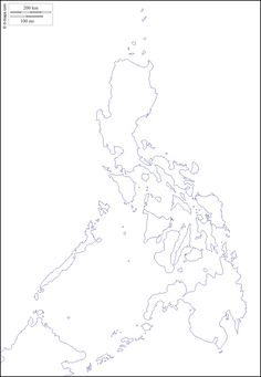 Philippines : free map, free blank map, free outline map, free base map : coasts (white)