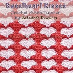Sweetheart Kisses | 12 BEST FREE Crochet Patterns by @beckastreasures from 2016