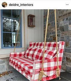 "Chairloom on Instagram: ""It's beginning to look a lot like 🎄❤️ #custom #porchswing Designed by us inspired by porch swing childhood days. This beauty happened thanks…"" Yard Swing, Porch Swings, Childhood Days, Outdoor Furniture, Outdoor Decor, That Look, Shit Happens, Porch Ideas, Inspired"