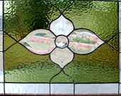 Stained Glass Panel - Beveled Flower Cluster