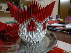 3D Origami. Flower vase