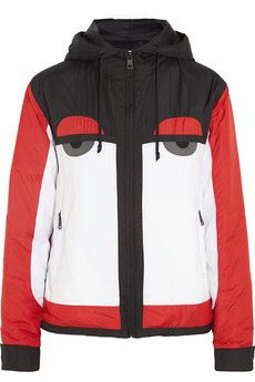 Fendi Creatures hooded shell ski jacket | NET-A-PORTER