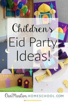 Children's Eid Party Ideas Eid Ramadan, Mubarak Ramadan, Eid Mubarak Greetings, Ramadan Gifts, Eid Mubark, Ramadan Activities, Activities For Kids, Activity Ideas, Eid Crafts