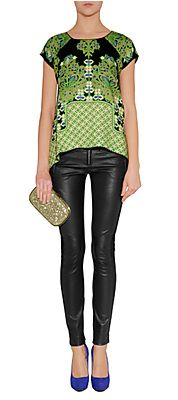 Green/Black-Multi Print Bamboo Top by ANNA SUI Available At: http://www.stylebop.com/product_details.php?id=404761#