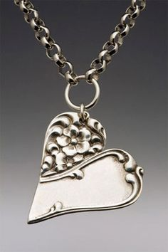 Silverware Necklace, that's cool and really pretty!