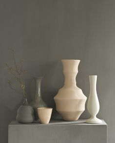 Salmon and grey vases - the left little vase and salmon colored cup by suus notenboom Picture: Actproductions