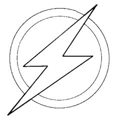 Batman Symbol Template See More Flash Superhero Coloring Pages