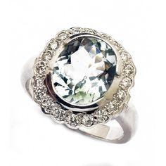 9ct Aquamarine & Diamond Ring. gerrim.com Colored Diamond Rings, Colored Diamonds, Engagement Rings, Jewelry, Design, Enagement Rings, Wedding Rings, Jewlery, Jewerly