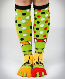 TMNT Mix and Match Knee High Toe Socks #TMNT