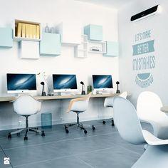 Białe i Niebieskie Półki TETREES - zdjęcie od TETREES - Wnętrza biurowe - Styl Minimalistyczny - TETREES