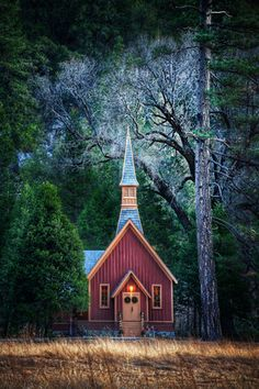 red chapel in the woods, Yosemite ~ yet another view of it