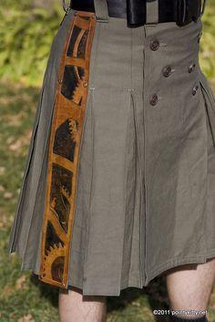 Leather Panel Alt.Kilt