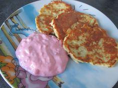 Jablkové lievance s malinovou omáčkou - Jedlá a recepty pre deti - Receptypredeti.eu