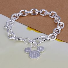 Mickey Mouse Silver Plated Fashion Bracelet