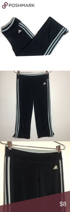 Adidas Capri Yoga Pants • Navy wide leg yoga pants. These are in great condition with no signs of wear. adidas Pants