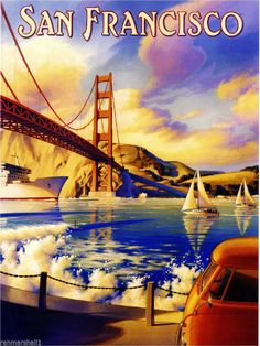 San Francisco California America United States Travel Advertisement Art Poster  #Vintage