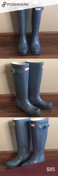 Original Gray Gloss Hunter Boots Size 5M/6F. Original Gray Gloss Hunter Boots Size 5M/6F.  Slightly used but in good condition!!! Hunter Boots Shoes Winter & Rain Boots