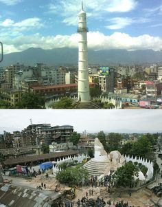 4 25/2015: Nepal Earthquake: Famous Historic Sites Before and After the Quake - HitFull.com