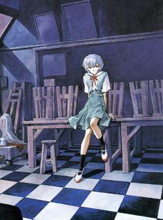 Der Mond: The Art of Neon Genesis Evangelion Rei Ayanami by Yoshiyuki Sadamoto