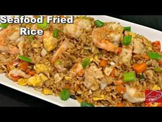 Lobster Fried Rice Recipe, Crab And Shrimp Recipe, Chinese Shrimp Fried Rice, Seafood Fried Rice, Crab Legs Recipe, Shrimp And Rice Recipes, Asian Seafood Recipe, Grilled Shrimp Recipes, Lobster Recipes