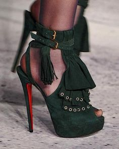 I don't know who's shoes...saw these online and loved them. My goal is to be able to wear heels again!