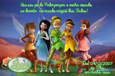 Convite digital personalizado Fadas Disney 024