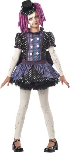 A damaged dolly comes to life with a childlike innocence in this sweet girls' Halloween costume. Our Broken Doll Halloween costume for girls is a fun and . Broken Doll Halloween Costume, Halloween Costumes Women Scary, Costumes For Teens, Halloween Costumes For Girls, Cool Costumes, Halloween Ideas, Halloween Halloween, Children Costumes, Halloween Makeup