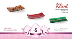 Klimt, Murano Glass, Tray, Accessories, Shopping, Trays, Board, Jewelry Accessories